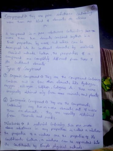 Chemistry Notes of chapter one class 11